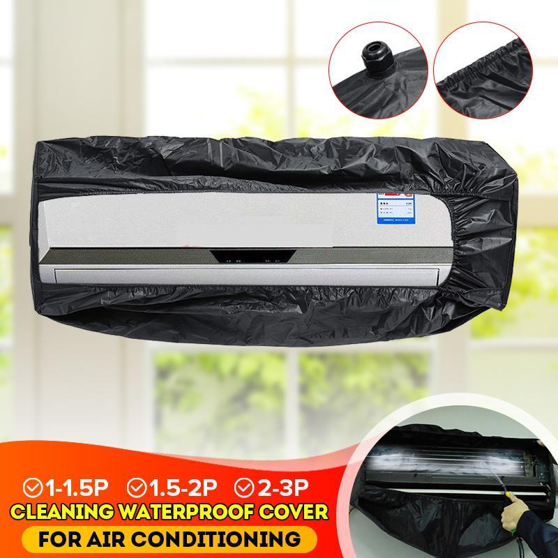 O condicionador de ar preto cobre a limpeza da poeira que lava o protetor impermeável limpo para 1-1.5 p 1.5-2 p 2-3 p condicionadores de ar