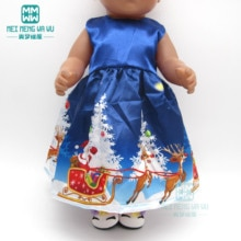 Christmas girl dress, Halloween dress, Doll clothes for 43cm baby new born doll 18 Inch American dol