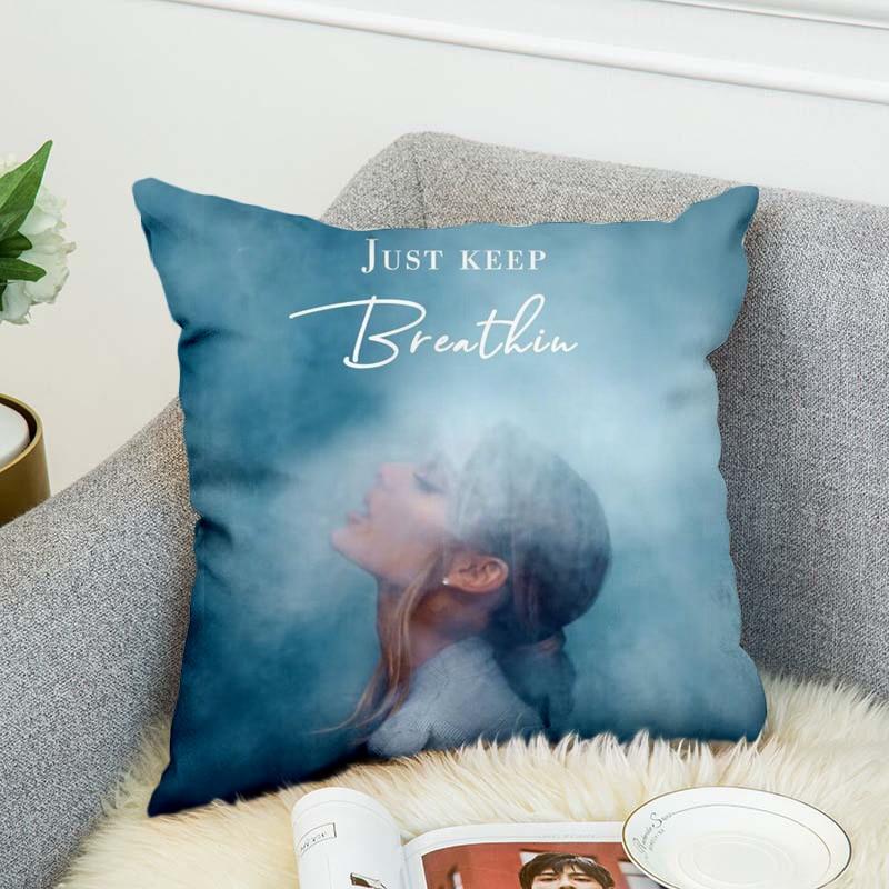 Funda de almohada Ariana Grand, funda de almohada decorativa de poliéster, estilo de funda de almohada-4