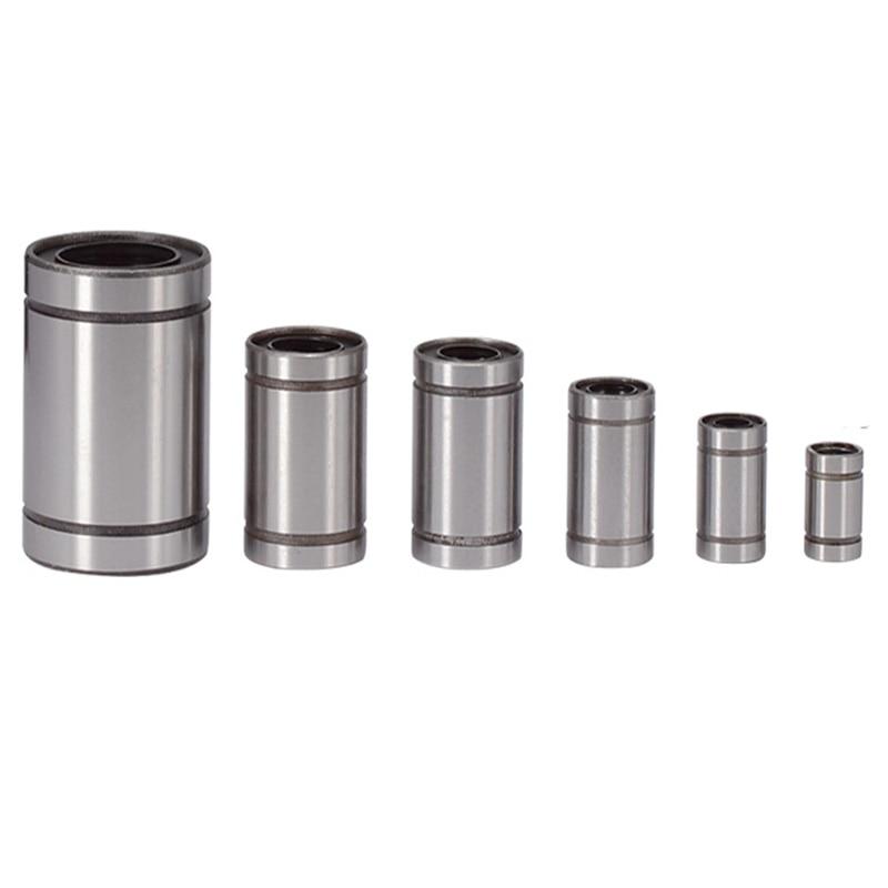Manufacturer's direct selling LM3uu LM4uu LM6uu LM8uu LM10uu LM12uu LM16uu LM20uu linear lining CNC linear bearing linear shaft 1pcs lm6uu lm8uu lm10uu lm12uu lm20uu linear ball bearings 6mm 8mm 10mm 12mm 20mm part bush bushing steel for 3d printers parts