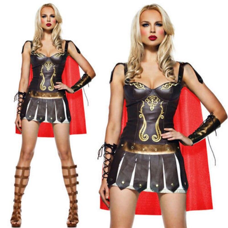 Antiguo nuevos trajes de guerreros griegos gladiador español superhéroe sexy fiesta cosplay...