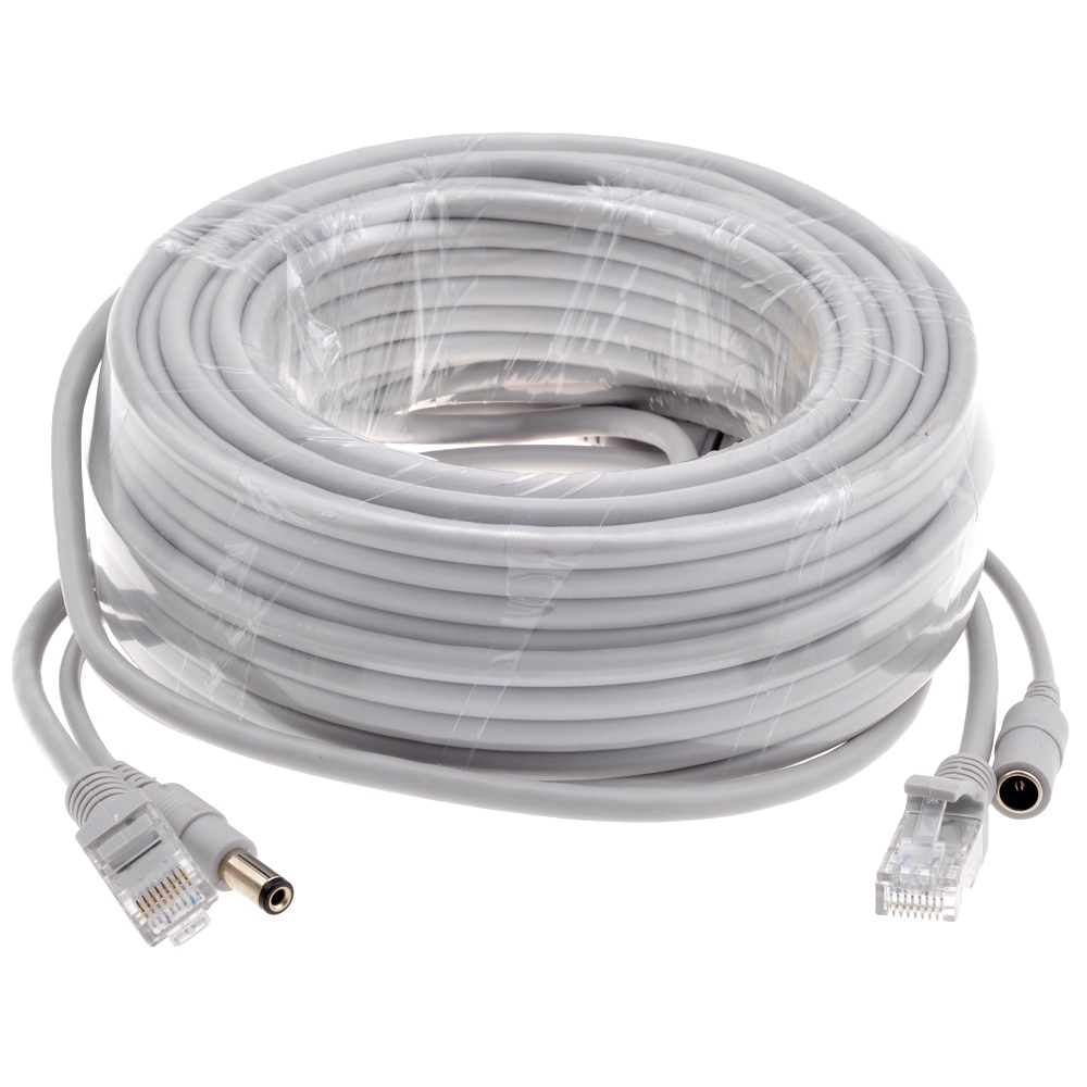 IP CCTV Camera RJ45 + DC Power Cable 5M/10M/15M/20M/30M Ethernet 2 in 1 CAT5/CAT-5e RJ45 Cables  for IP Camera NVR System enlarge