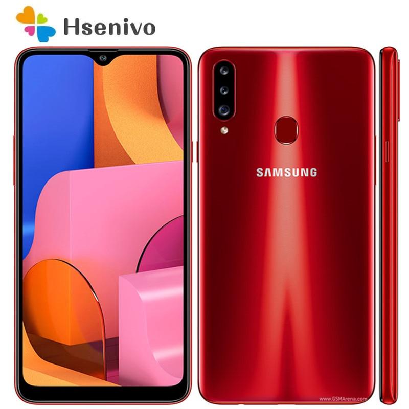 Восстановленный Оригинальный разблокированный Samsung Galaxy A20S A207F A207M A2070 Android Wi-Fi GPS 13.0MP 6,5 дюйм 32 Гб 2 Гб ОЗУ Бесплатная доставка