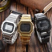DW5600 GWM5610 G5600E Metal Stainless Steel Watch metal watch with luminating night night