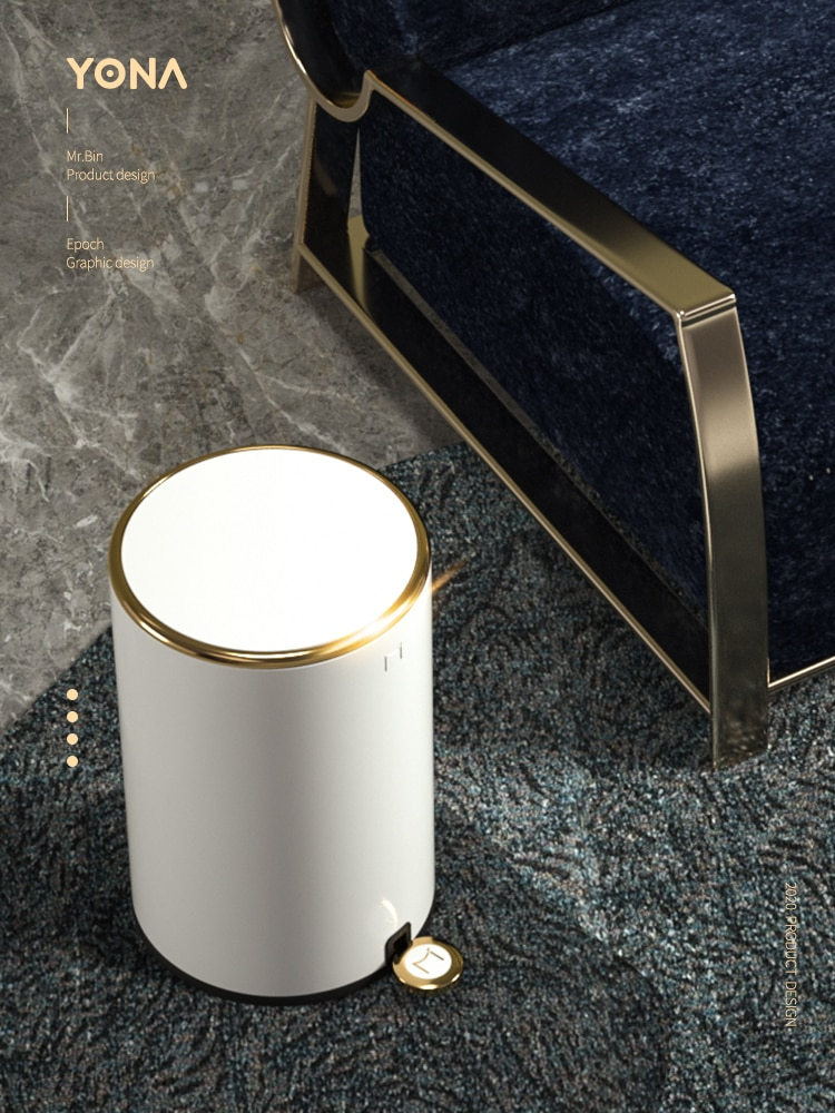 Nordic Luxury Trash Bin Bedroom Modern Minimalist Creativity Home Trash Can Kitchen Storage Bote De Basura Storage BC50LJ enlarge
