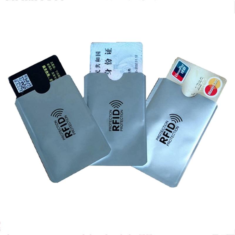 1pc/ 10pcs Aluminum Foil Anti-degaussing Card Cover RFID Shielding Bag NFC Credit Card Anti-theft Brush ID Card Protector недорого