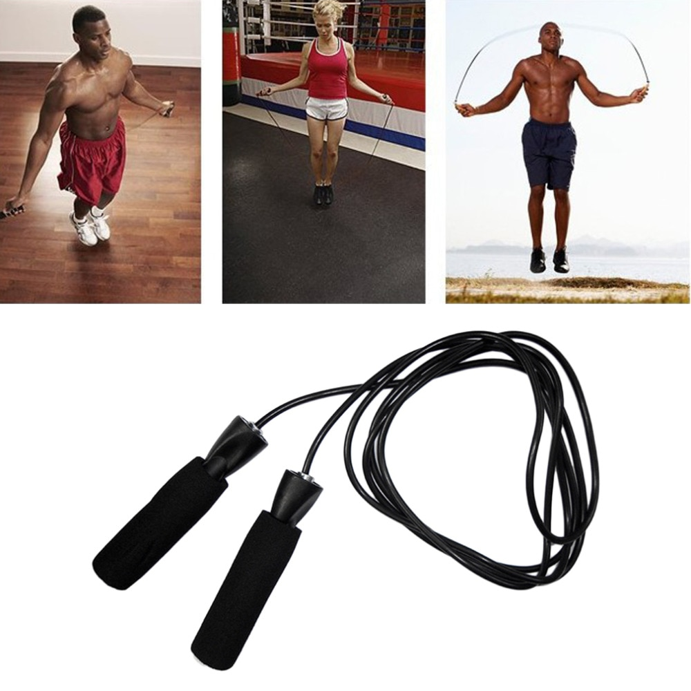 3 meters metal ball bearing adjustable training speed jump exercise rope sport skipping fitness equipment home gym drop shipping 2018 Bearing Skip Rope Cord Speed Fitness Aerobic Jumping Exercise Equipment Adjustable Boxing Skipping Sport Jump Rope