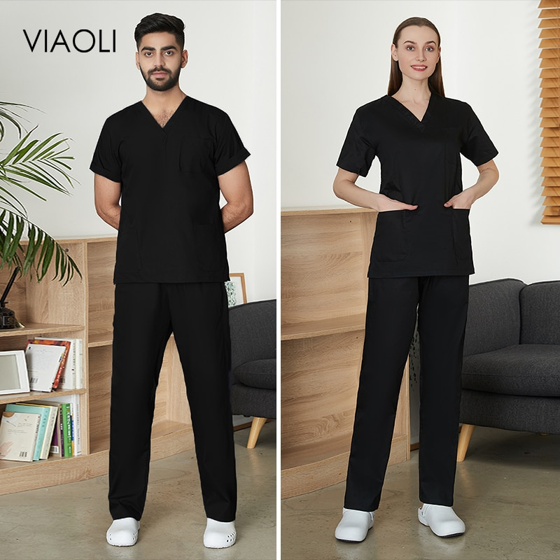 Pet grooming Short-sleeve working Uniforms Suits tooth beauty clothing Sets Beauty Salon Workwear lab work Overalls Clothes new new pet shop beauty work clothes set matching color short sleeved pet beauty anti hair and anti splash hydraulic clothing men an