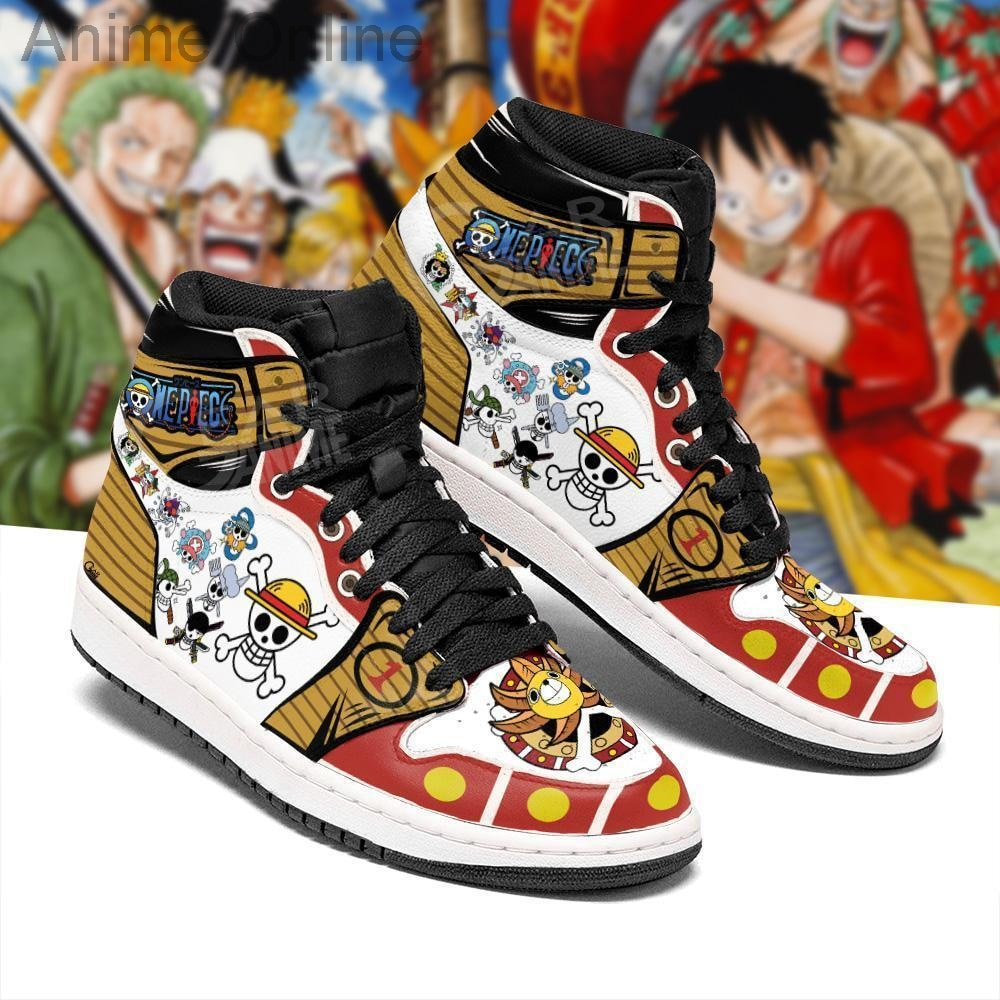 Straw Hat Shoes Jolly Roger High Top Boots One Piece Anime Sneakers