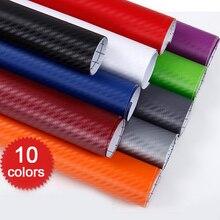 127*30CM/50CM/60CM 3D Carbon Fiber PVC Car Wrap Sheet Roll Film Car Stickers Decals Motorcycle Motoc