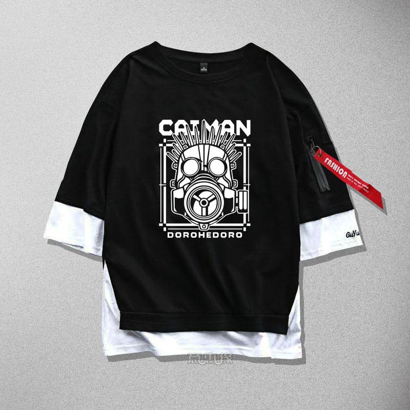 Nouveau Dorohedoro cosplay T-Shirt coton ruban unisexe hommes femmes T petit haut t-shirts