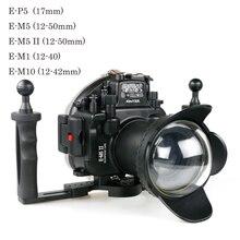 40 м/130ft Водонепроницаемый чехол для цифровой камеры Olympus E M1 E P5 E M5 Mark II E M10 EP5 EM5 EM5II EM10 подводный корпус для камеры для подводного плавания бумага для упаковки коробок