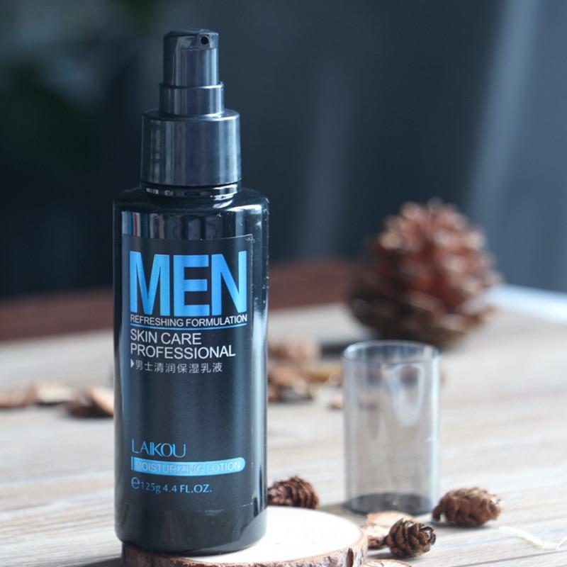 125g loción para el cuidado de la piel de los hombres loción Facial hidratante minimiza la loción de crema Facial Balance de aceite ilumina los poros