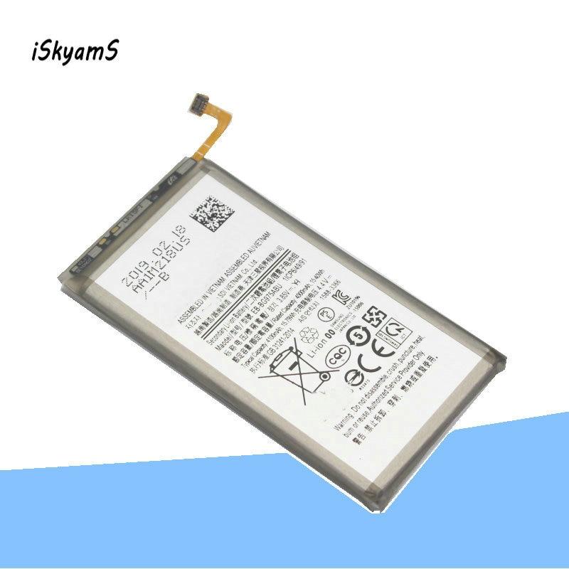 ISkyamS 1x4000 mAh Ersatz Batterie EB-BG975ABU Für Samsung Galaxy S10 + S10 Plus SM-G9750 Authentische Telefon Batterien
