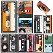 Rétro Mélange Cassette Étui En Silicone Pour Samsung Galaxy Note 20 Ultra 5G 8 9 10 Plus M31 M30s M51 M31s M11 F41 TPU Couverture Fundas