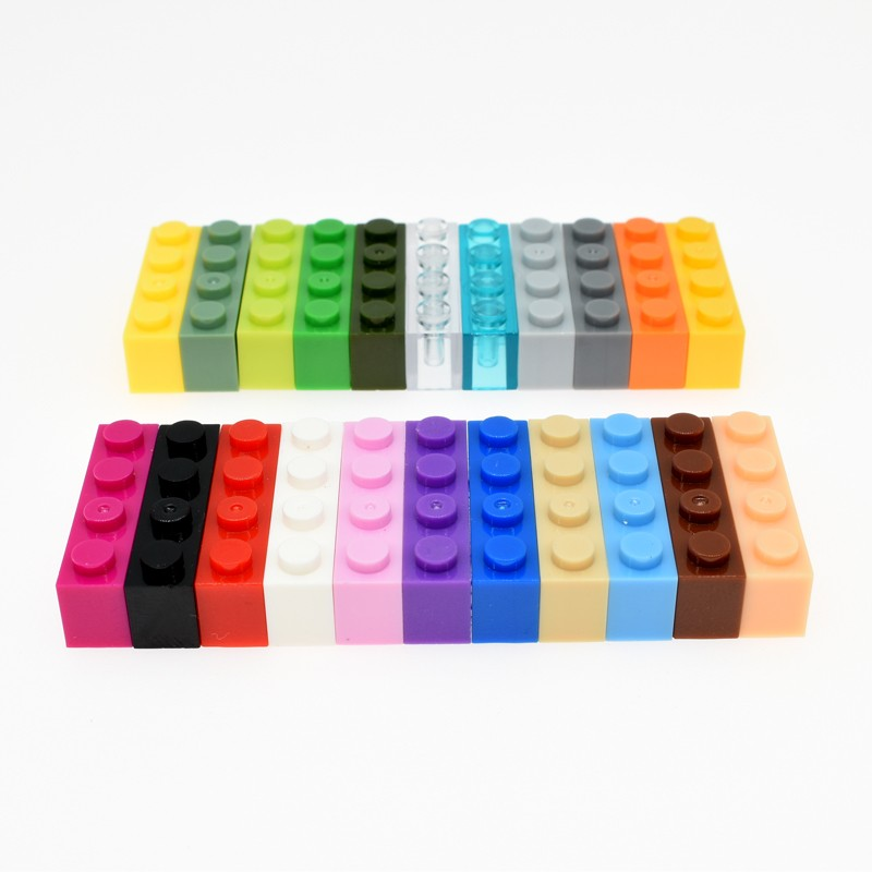 20pcs Diy Building Blocks Thick Figures Bricks 1x4 Dots Educational Creative Size Compatible With Brand Toys For Children 3010
