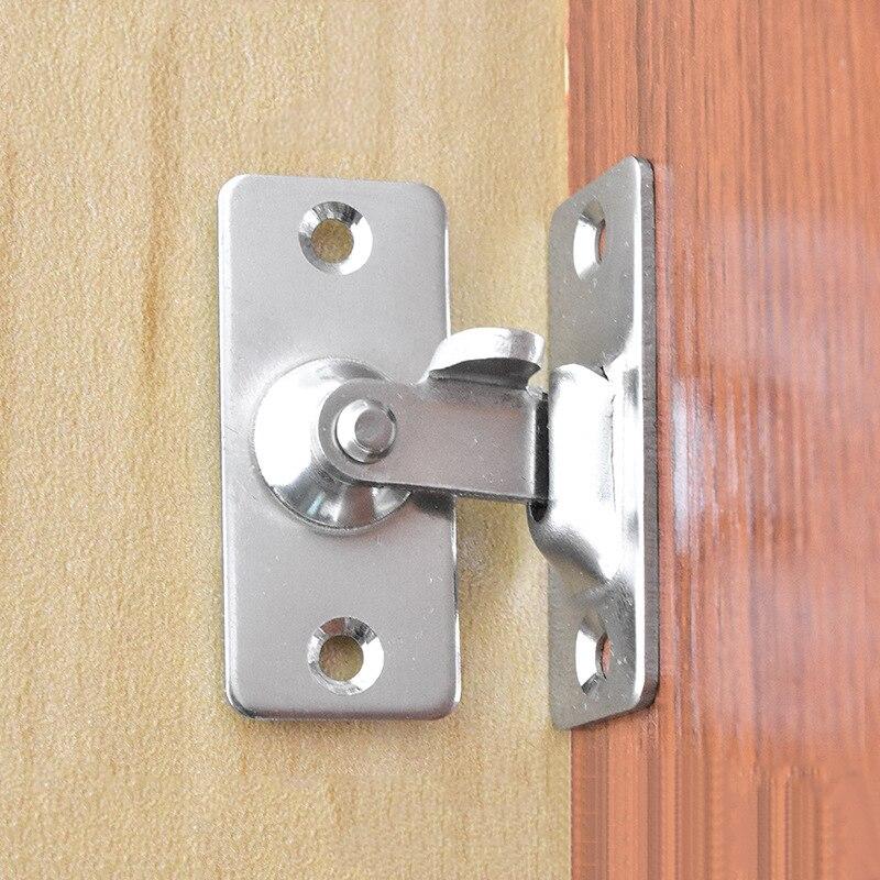 1pc klamra zamka drzwi 90 stopni drzwi przesuwne/szafki klamra/szuflady ze stali nierdzewnej bezpieczne odporne na zużycie