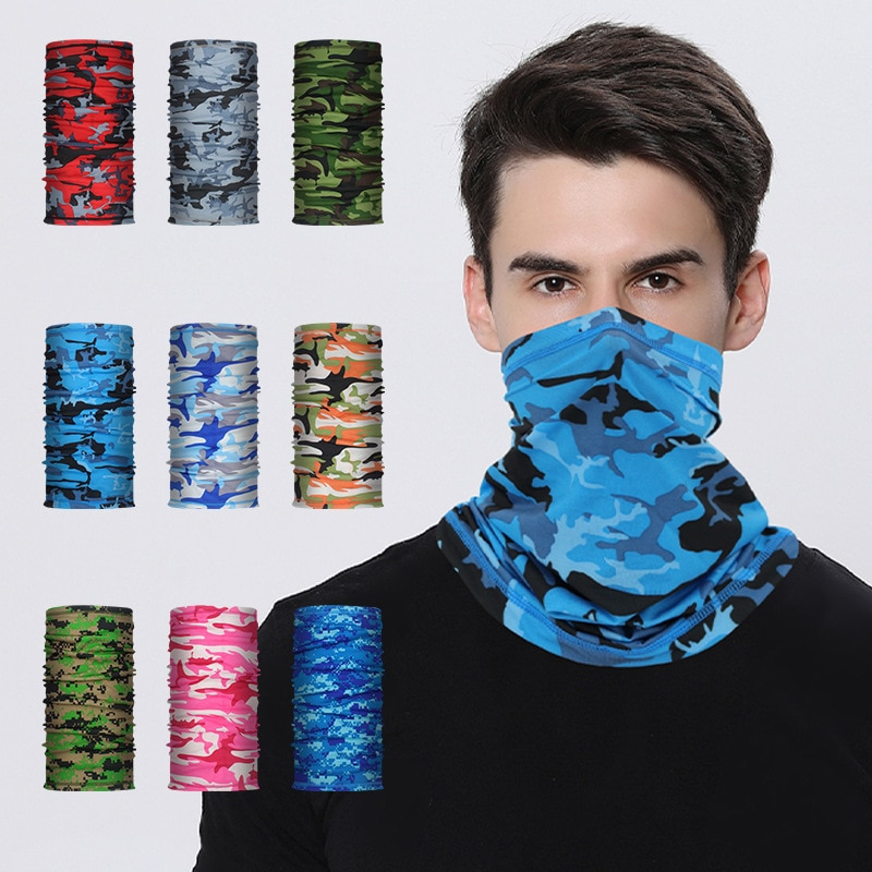 Multifunctional UV Protection Magic Scarf Neck Warmer Tube Outdoor Fishing  Hiking Cycling Face Head