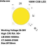 Bricolage LED U-HOME haute CRI 95   100W COB LED lumiere du jour blanc DC36-38V 2 5A   radiateur dissipateur de chaleur   DC12V ventilateur pour bricolage Home cinema projecteur