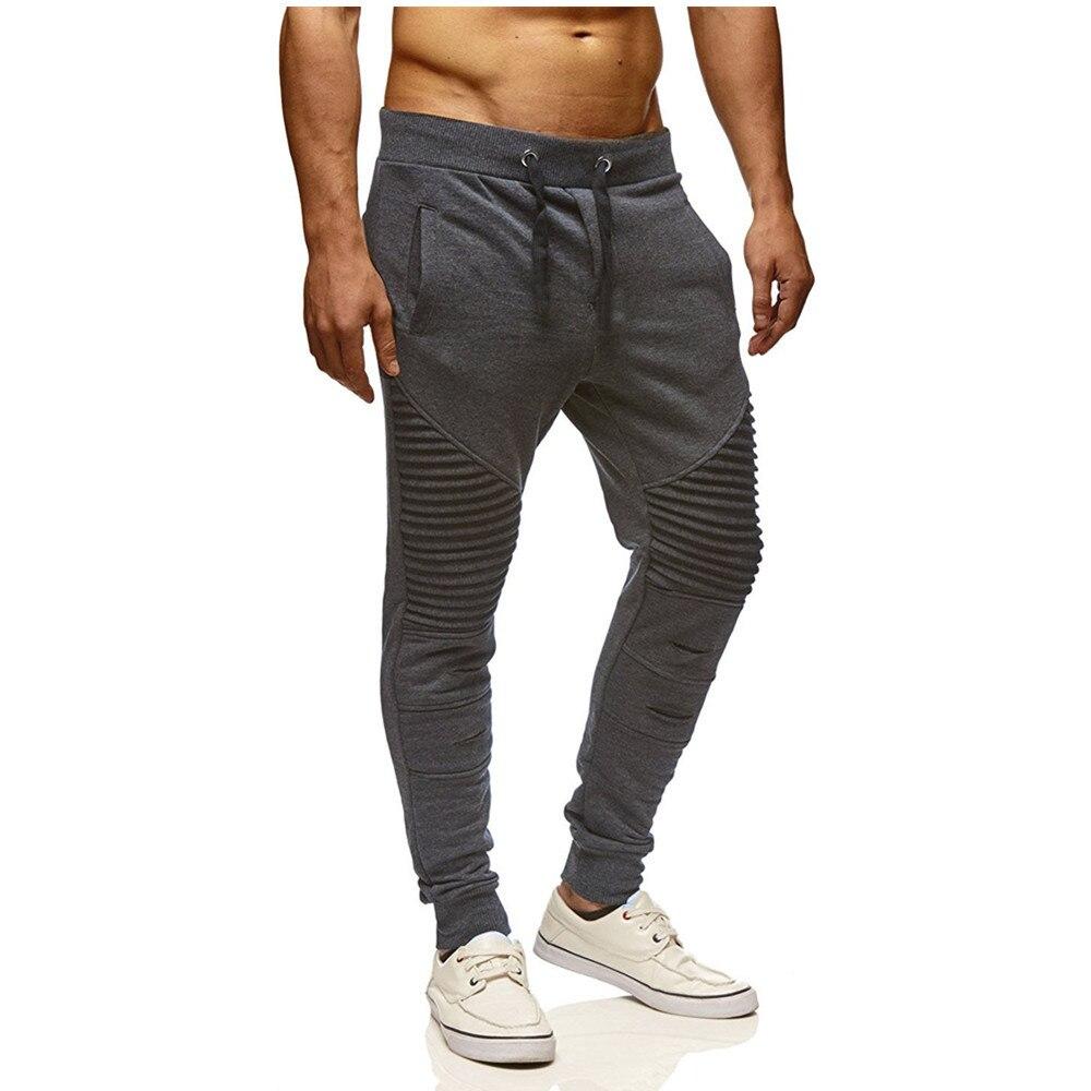 2021 New Ripped Pleated Men Joggers Pants Striped Slim Pants Men Hip Hop Streetwear Sweatpants Trousers Pantalon Homme