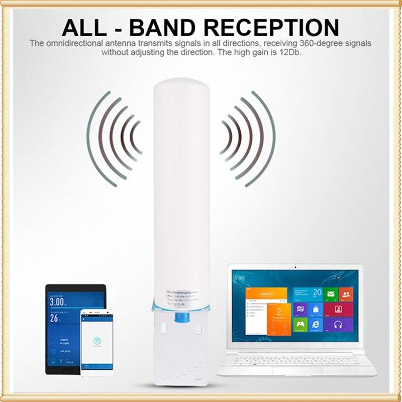 12DBi Omni antena exterior N Conector hembra 698-2700MHZ para 2G 3G 4G GSM repetidor amplificador móvil Internet