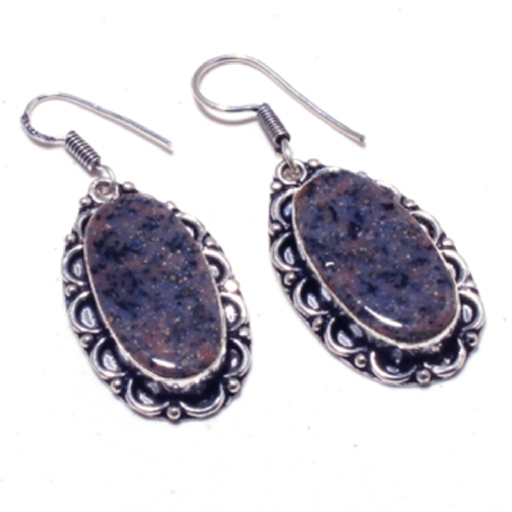 Echtem Honig Dendrite Opal Silber Overlay auf Kupfer Ohrringe Hand made Frauen Schmuck Geschenk, E5299