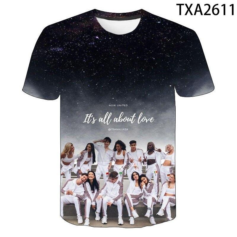 Summer Now United 3D T Shirts Casual Men Women Children Short Sleeve Boy girl Kids Printed T-shirt Wild personality Tops Tee