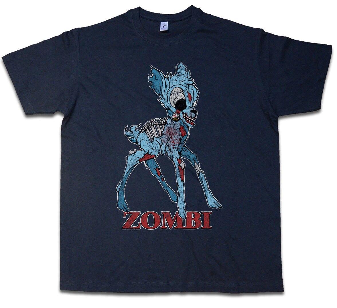 Camiseta zobi II ciervo divertido Drácula vampiro murciélago ZOMBI Halloween salpicadura Bambi camiseta Tops verano Cool divertida camiseta