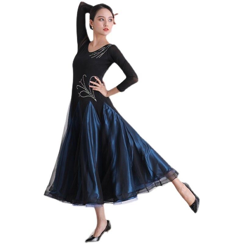 2021 امرأة فستان رقص حديث أداء فستان الوطنية القياسية الرقص المنافسة فستان الفالس أزياء رقص LYQ2110