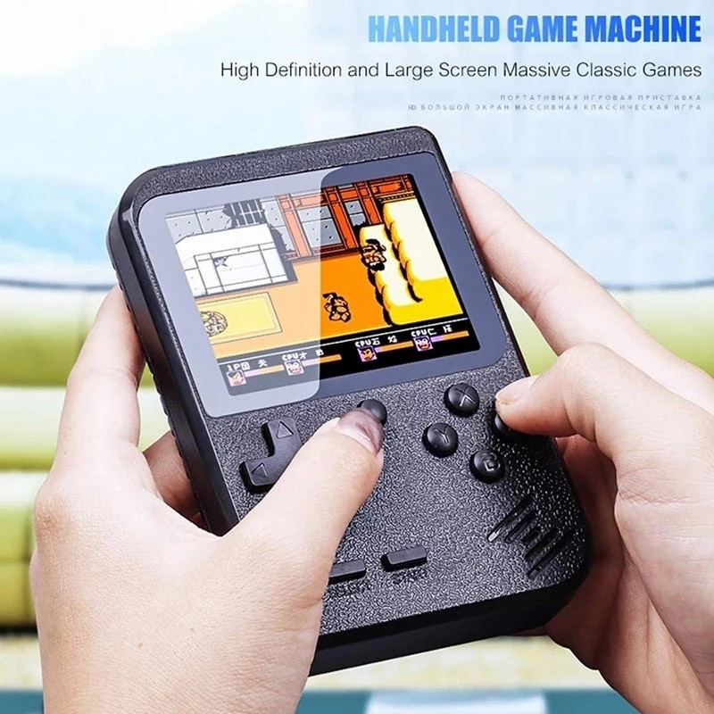 2021 Original Retro Portable Mini Handheld Video Game Console 8-Bit 3.0 Inch Color LCD Kids Color Game Player Built-in 400 games enlarge