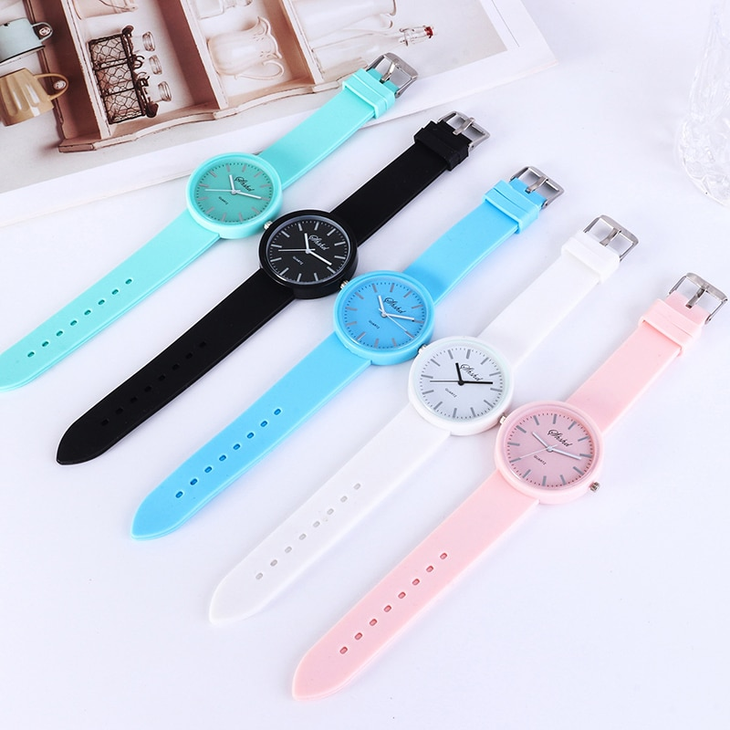 2020 new fashion ladies watch ins trend candy color watch Korea silicone jelly watch ladies gift