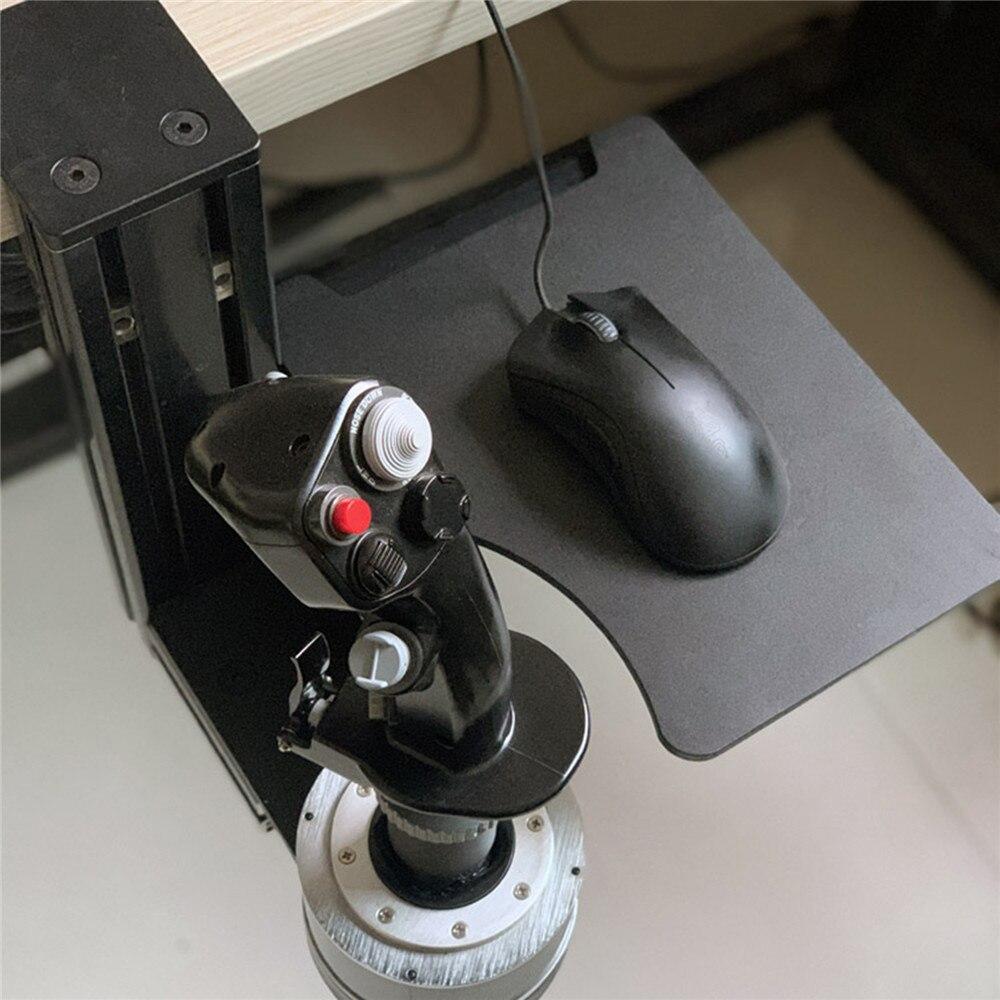 Suporte da bandeja do teclado do rato do metal engrossado para thrustmaster hotas x56 vkb flight simulator joystick acessórios