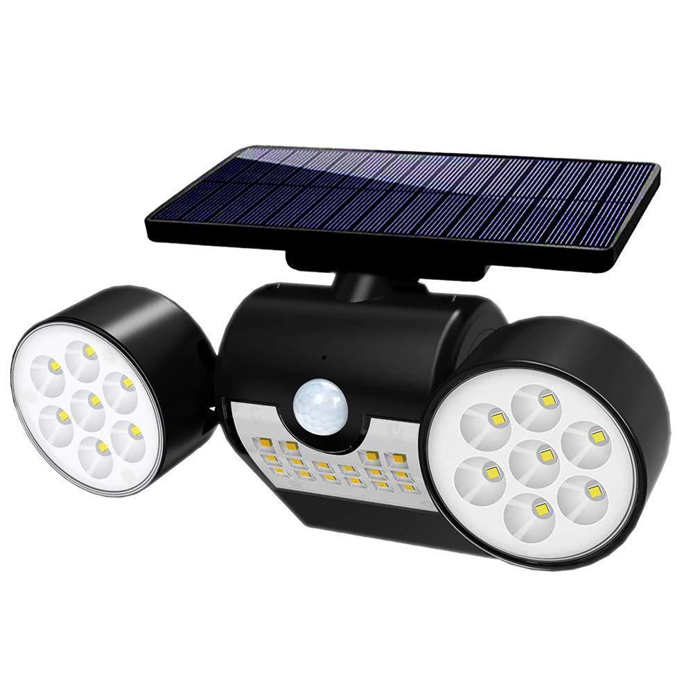 SOLLED 30LEDs Solar Light Motion Sensor Spotlight Waterproof Outdoor Adjustable Angle Lights for Garden Wall