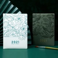 agenda planner 2021 organzier a5 diary notebook and journal line plan notepad weekly daily stationery business school note book