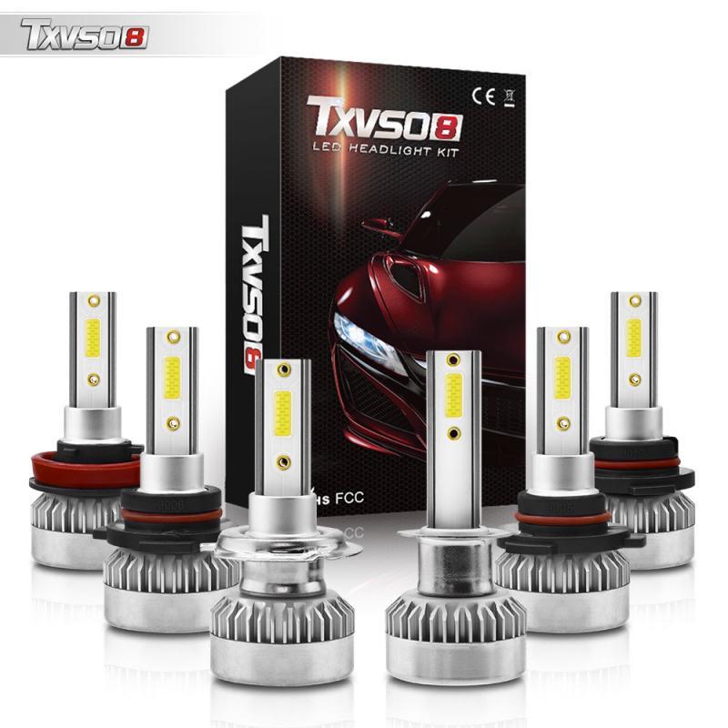 TXVSO8 G1 Series 2 Pcs Automotive LED Headlights H1/H7/9005/9006/9012 110W 6000K Car Driving Bulbs 10000LM/Each Bulb IP68
