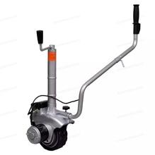 Es armazém de alumínio motorizado jockey roda reboque mover 12 v 350 w