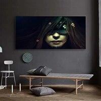 Figure peinture a lhuile masque deesse art toile dessin salon couloir bureau decoration murale