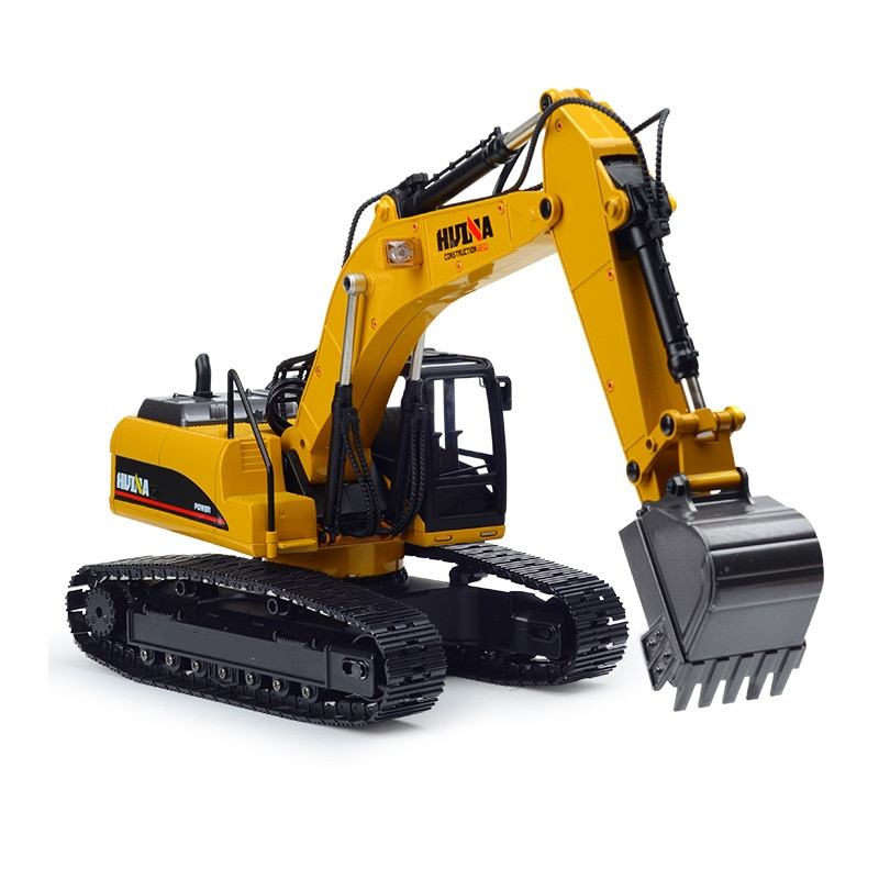 HuiNa 2,4G juguetes 15 canal 1/14 RC excavadora de carga del coche de RC con batería RC Aleación de excavadora RTR para la construcción de vehículos