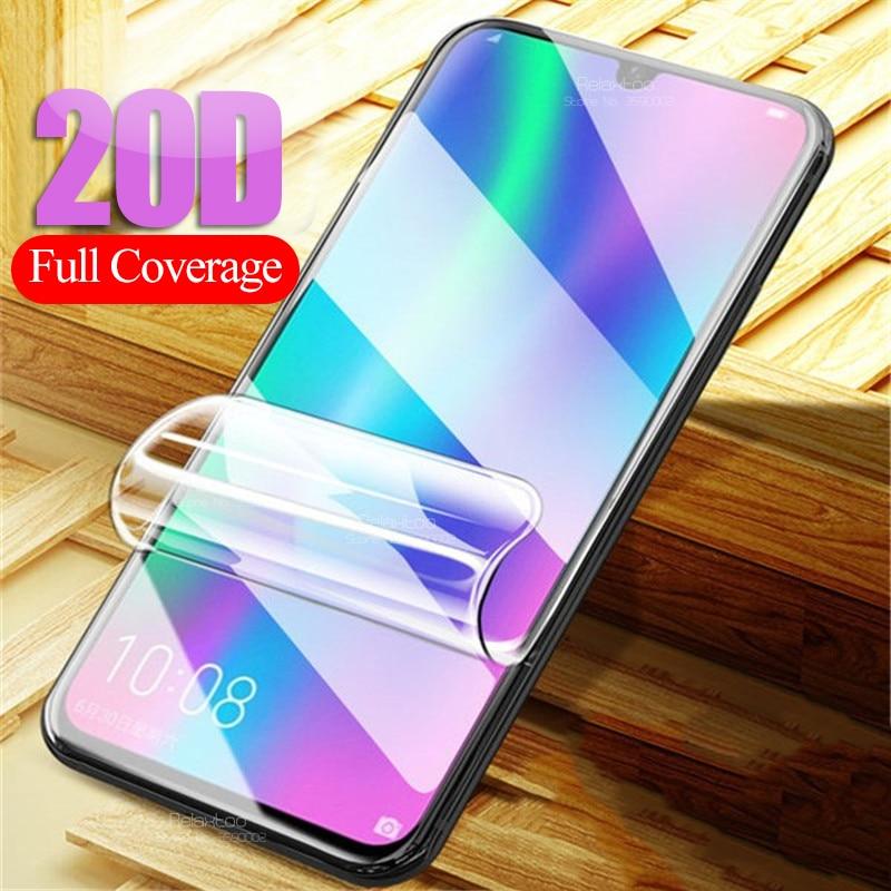 Película de hidrogel 20D para honor 10 lite light 10i 20 pro 8x8s 8c, protector de pantalla para huawei p30 p20 pro, película suave de seguridad, sin vidrio
