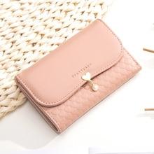 Prettyzys New Women's Medium Coin Wallet Card Holder PU Leather High Capacity Love Pendant Girl's Ha