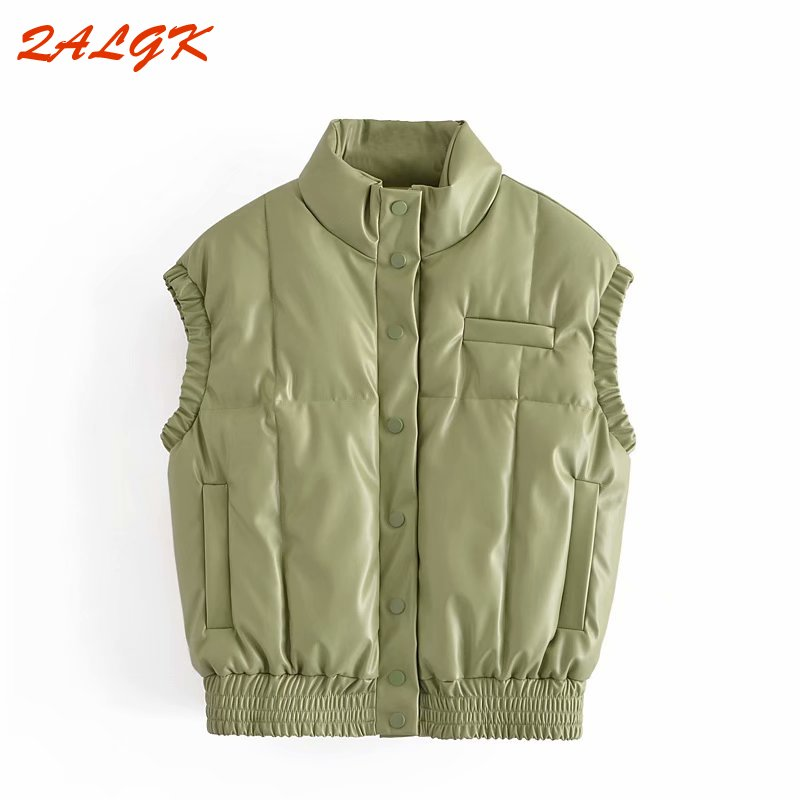 Women's Cotton Clothes European and American Style Autumn and Winter 2021 New Vest Light and Thin Short Vest Outer Wear Loose
