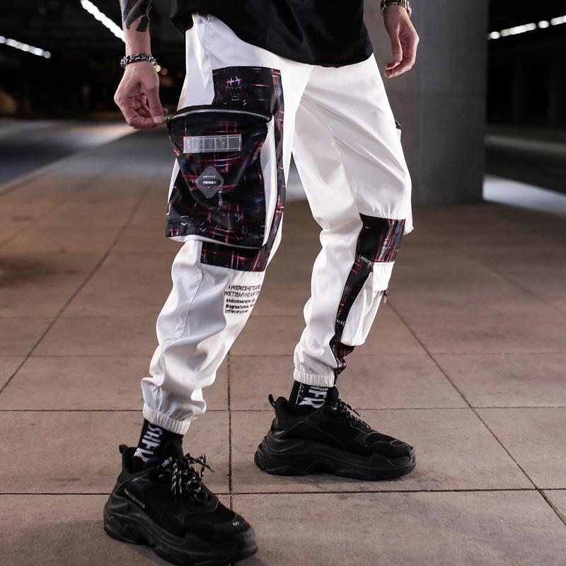 Pantalones Cargo Vintage para hombre, pantalones para correr con bolsillos caqui de hip hop para hombre, pantalones de chándal de moda coreana, monos de invierno