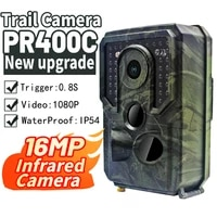 mini pr400 pro hunting camera trail 1080p wildlife monitoring outdoor 16mp photo trap for security infrared sensors night vision