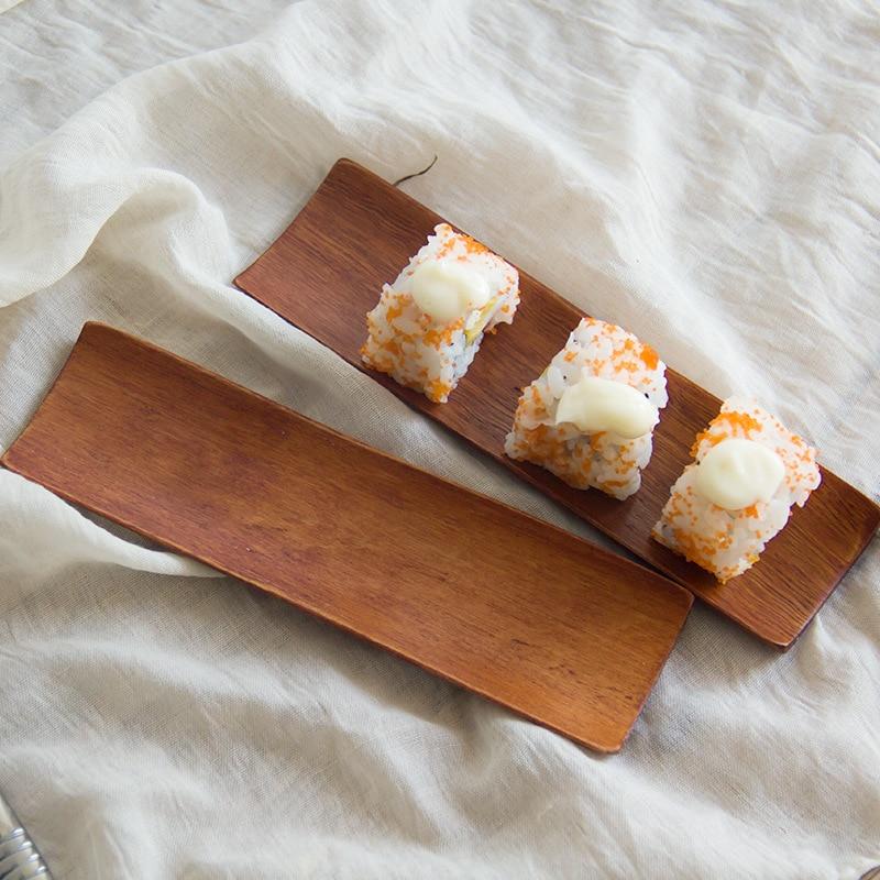 Bandeja de madera Vacclo plato de sashimi Sushi estilo japonés bandeja creativa fruta seca vajilla de cocina ecológica