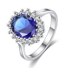 Księżna Diana William Kate Middleton stworzył niebieski pierścień Charms zaręczyny biżuteria ślubna dla kobiet