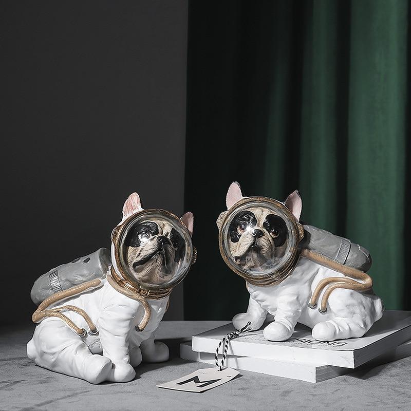 Sala de Estar Animais de Estimação Moderno Simples Nordic Quarto Espaço Casa Criativo Bulldog Modelo Artesanato Resina Crianças Ornamentos Presente Pós