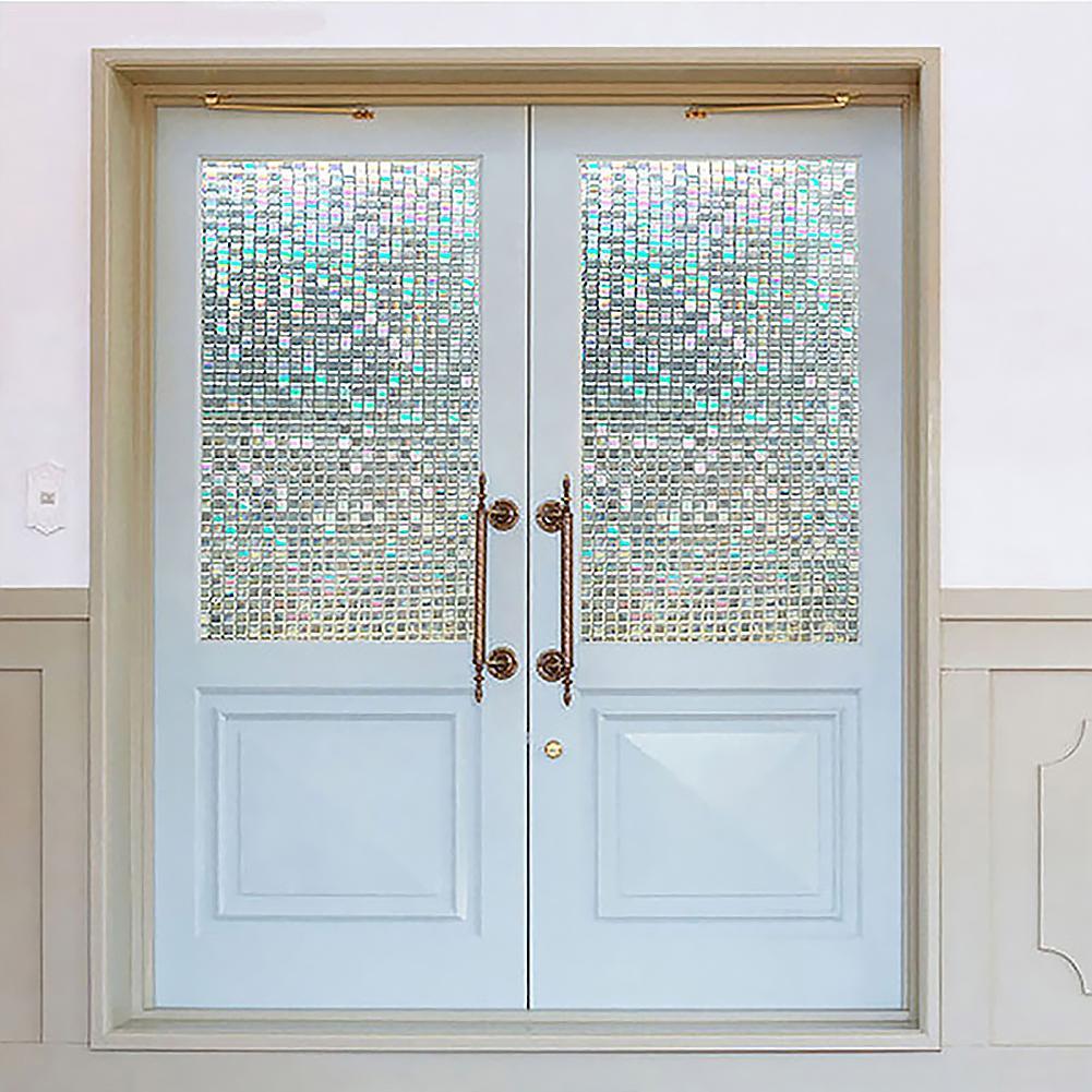 3D No pegamento estática cristal decorativo pegatina para ventana de vidrio de la ventana de vidrio auto-adhesivo película Anti UV sombrilla etiqueta engomada de cristal