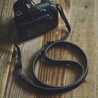 Nylon rope interface UK 595 camera strap Santi-Sony Fuji head layer real cowhide photography shoulder strap micro single