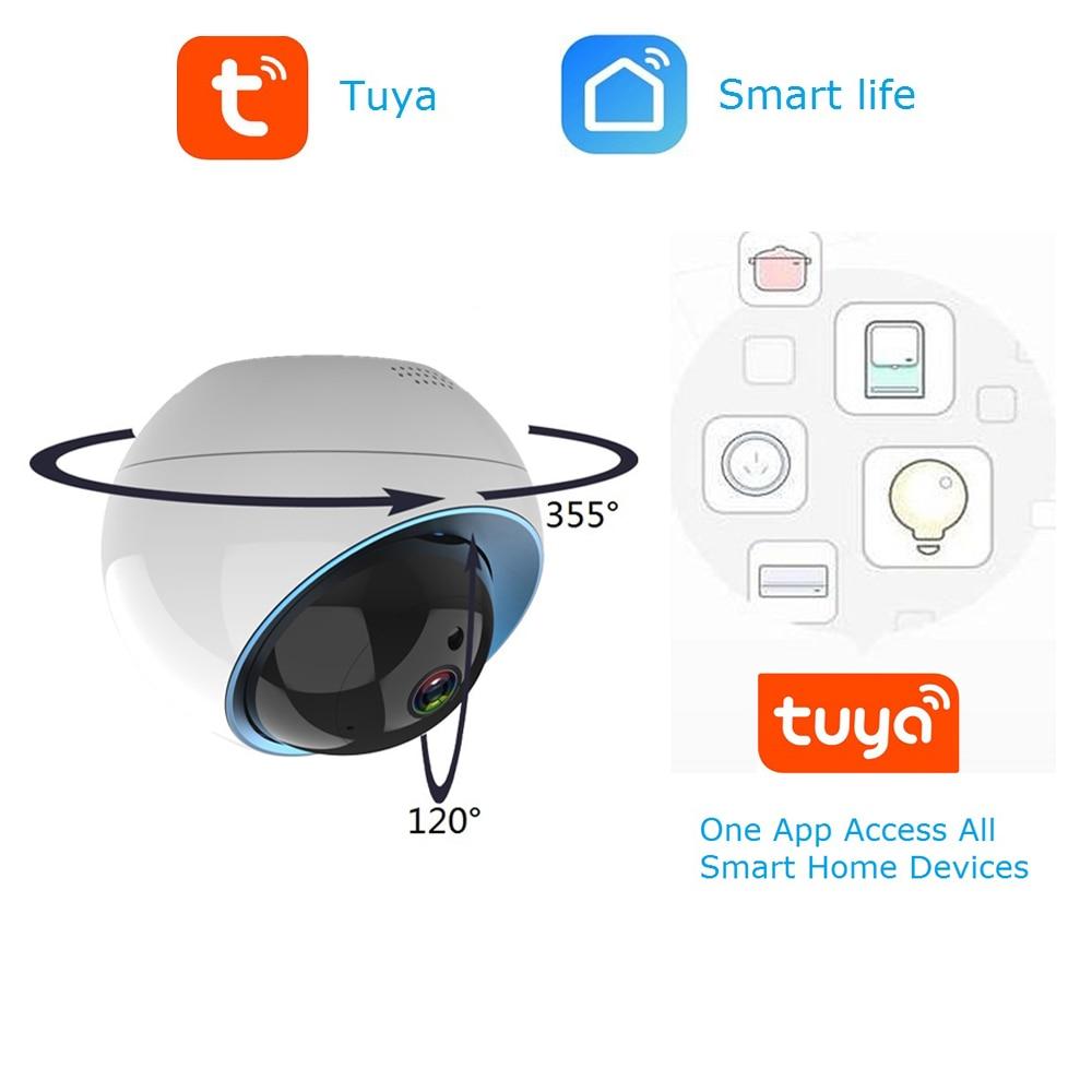 Wdskivi Dome Ip Camera 1080P Tuya Smartlife App Draadloze Wifi Beveiliging Thuis Camera Surveillance Cctv Camera Smart Kennisgeving