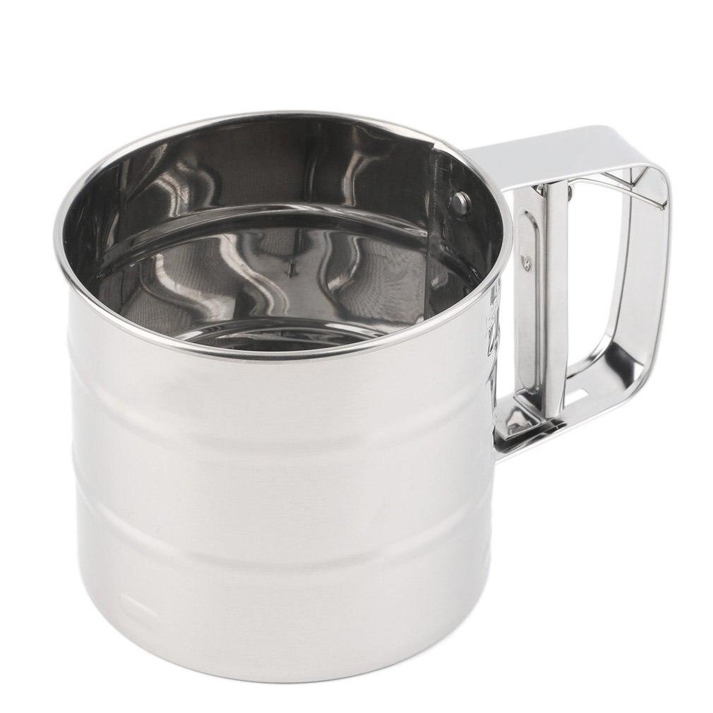 1Pc acier inoxydable maille farine tamis mécanique cuisson glaçage sucre Shaker tamis livraison directe